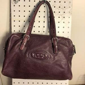 Tod's burgundy leather satchel